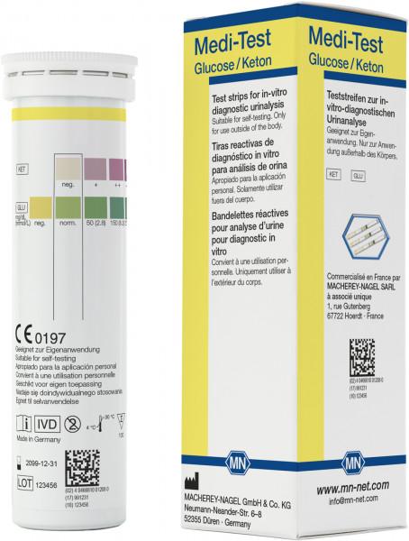 Urine test strips, Medi‑Test Glucose/Ketone