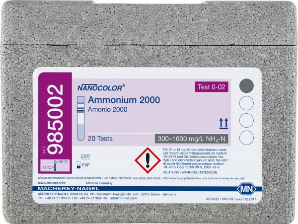 Tube test NANOCOLOR Ammonium2000
