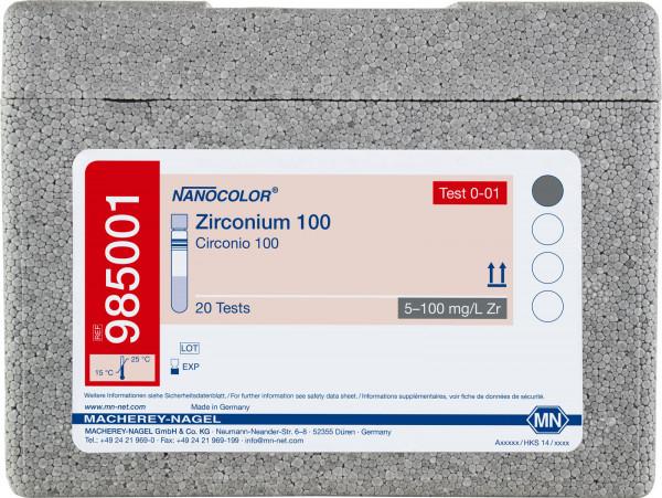 Tube test NANOCOLOR Zirconium100