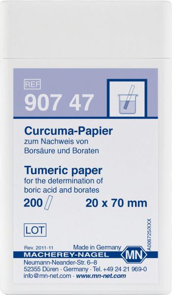 Qualitative Turmeric paper for Boric acid: 100mg/L H₃BO₃