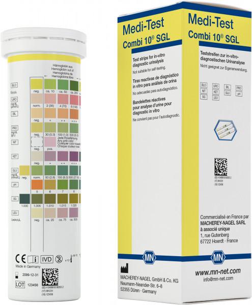 Urine test strips, Medi‑Test Combi10SGL