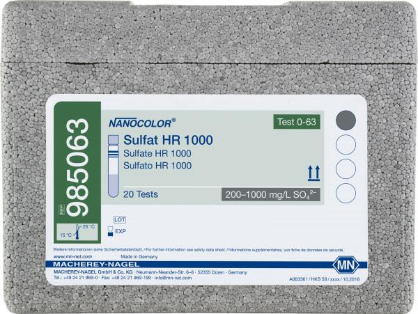 Tube test NANOCOLOR Sulfate HR1000
