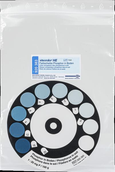 Color comparison disc for VISOCOLORHE Phosphorous in soil