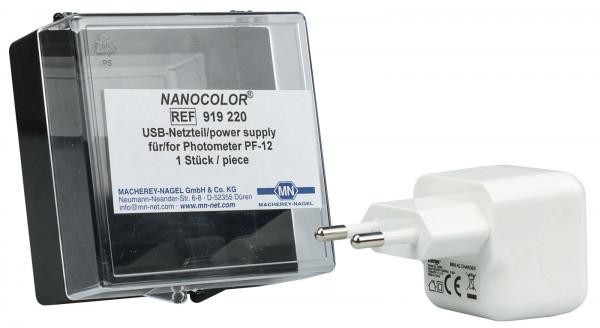 USB mains adaptor for PF‑12/PF‑12Plus/PF‑3