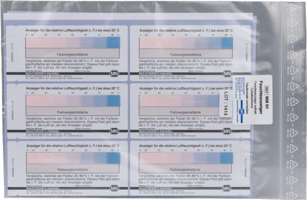 Semi-quantitative moisture indicator 20–80% r. h., self-adhesive labels