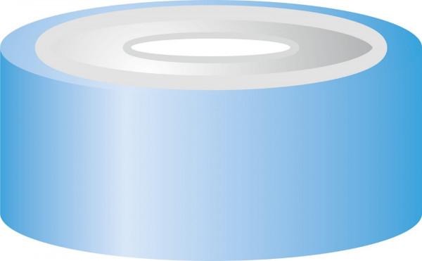 Crimp closure, N 20, alu. blue/tin, center hole,Sil. white/Polyimide orange, 3mm